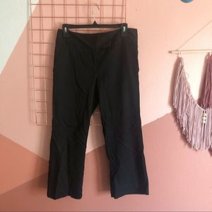 Lilly Pulitzer Black Cropped Straight Pants sz 4